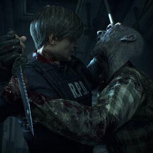 Resident Evil 2 (Remake) - Leon Zombie Attack