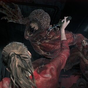 Resident Evil 2 (Remake) - Claire Licker Attack